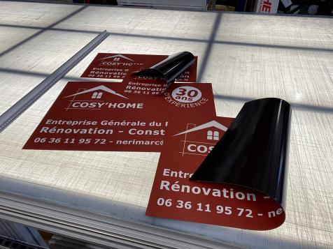 Affiche magnétique pour l'entreprise Cosy'Home