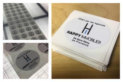Stickers pour l'agence immobilière Happy Immobilier