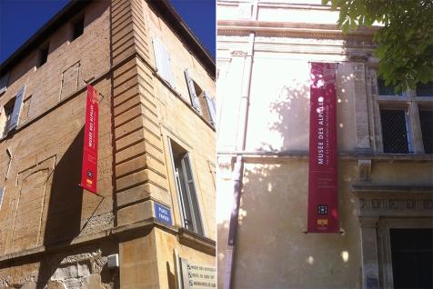 Kakémonos extérieurs pour le Musée des Alpilles à Saint-Rémy de Provence