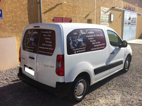 Habillage de véhicule pour Alvia Création à Saint-Rémy de Provence