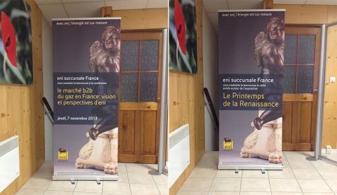 Roll-up enrouleurs pour ENI à Paris
