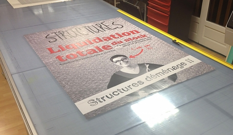 Affiches grand format pour le magasin Structures