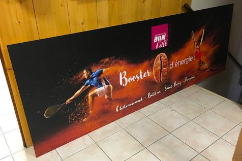 Panneau publicitaire pour La Maison du Bon Café à Châteaurenard