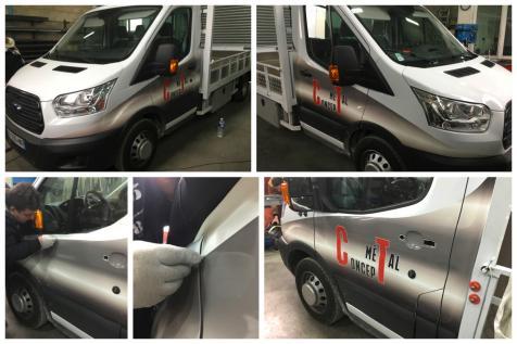 Habillage véhicule CT Métal Concept à Saint-Rémy de Provence