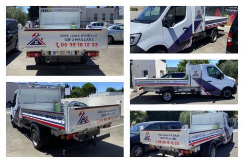 Habillage de véhicule pour l'entreprise France Toiture Arles